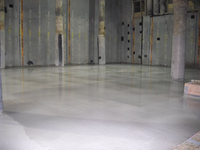 The finished screed with curing agent applied by Thermotech Screed London