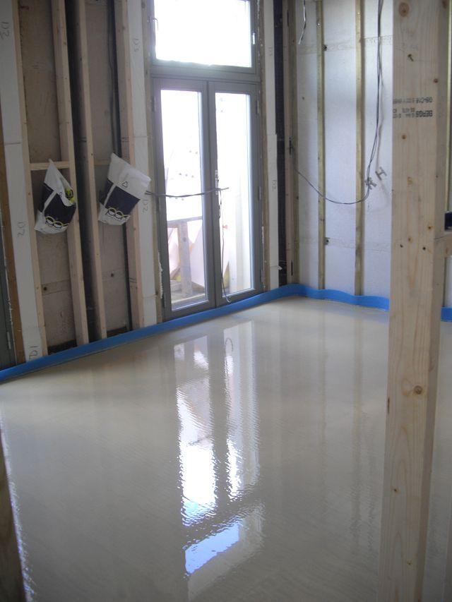 Completed first floor screed by Thermotech Screed London